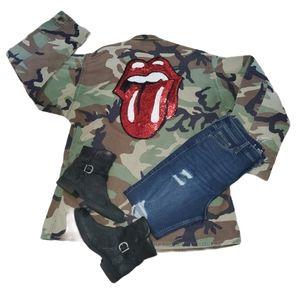 Vintage Camo Military BDU Jacket Size XL